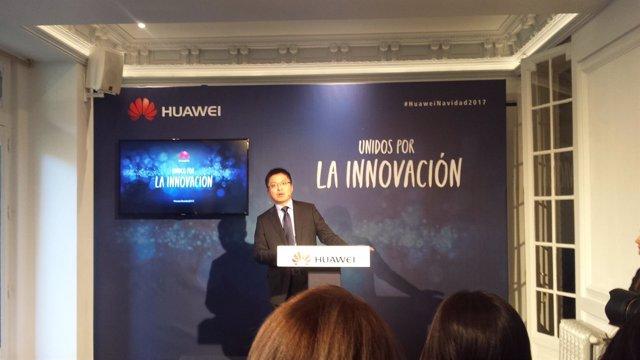 Presentación del CEO de Huawei España, Tony Jin Yong