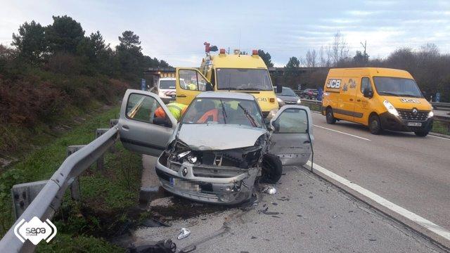 Accidente de tráfico en Siero