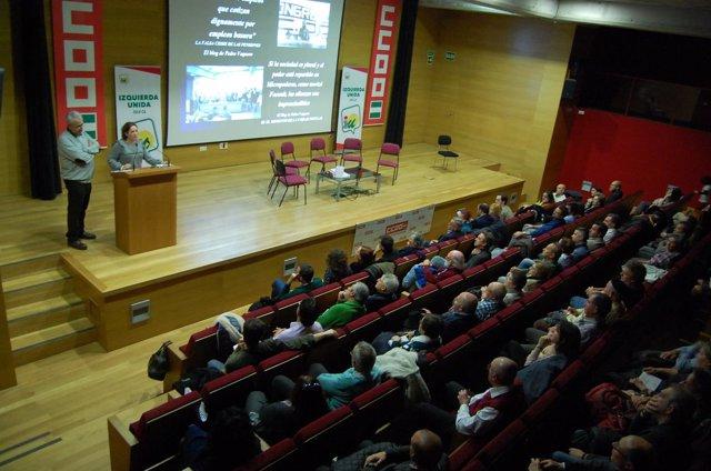 Homenaje a Pedro Vaquero en Comisiones Obreras