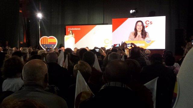 La candidata de Cs a la Generalitat el 21-D, Inés Arrimadas