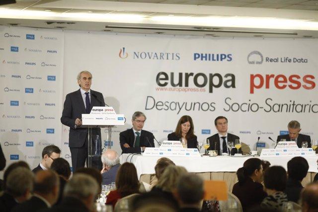 Desayuno con Enrique Ruiz Escudero, consejero de Sanidad de Madrid