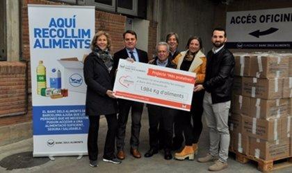 Menarini entrega 1.984 kilos de alimentos a la Fundación Banco de Alimentos