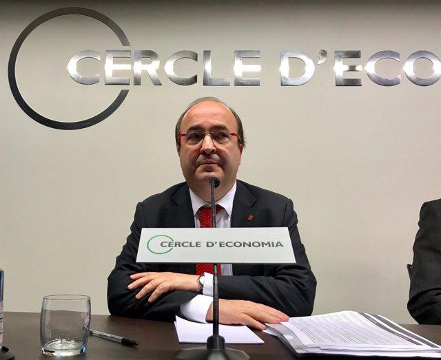 Miquel Iceta (PSC) en el Círculo de Economía