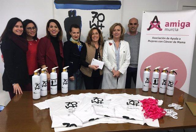 Mesa del Castillo y Asociación Amiga contra el cáncer de mama
