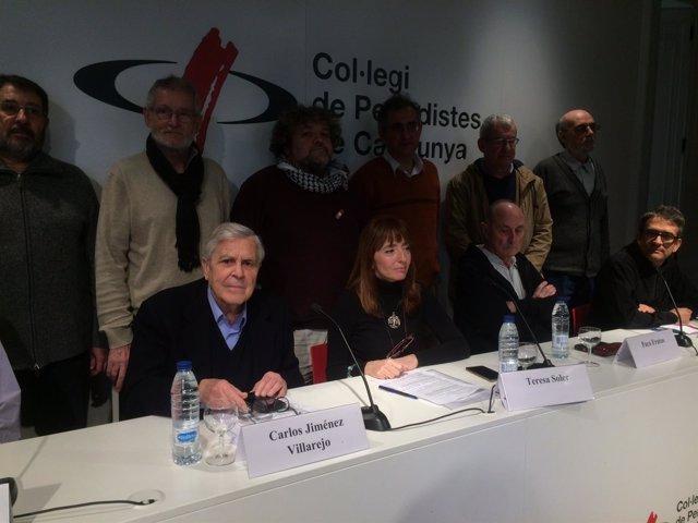 Carlos Jiménez Villarejo (PSC) y el exlíder de IU Paco Frutos