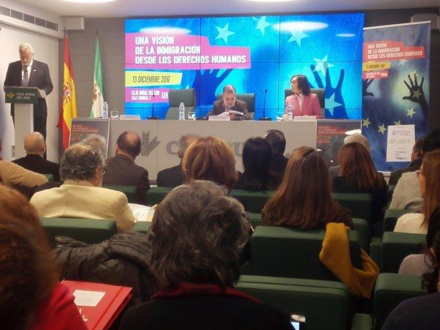 Inauguración de una jornada de sobre inmigración desde los derechos humanos