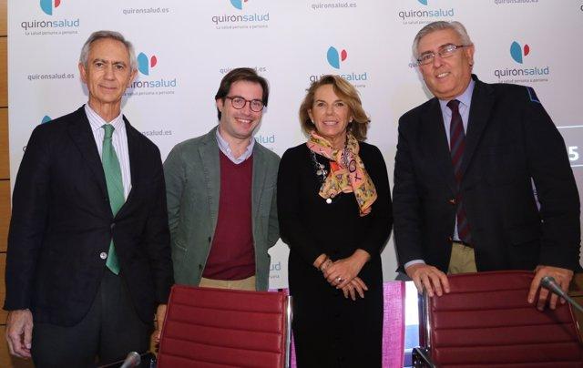 Participantes en jornadas sobre cáncer de pulmón de Quirónsalud en Sevilla
