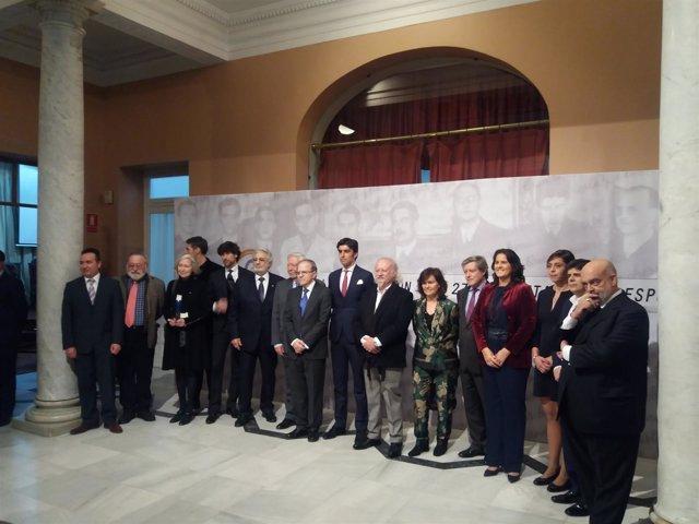 Foto homenaje a la Generación del 27 en Sevilla.