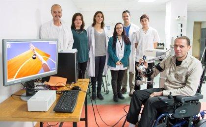 Parapléjicos recurre a la realidad virtual para estudiar la movilidad de los brazos