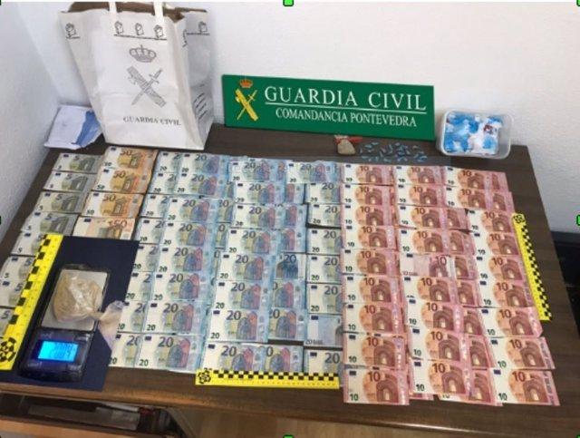 Desarticulado grupo criminal dedicado a distribución de droga en Bueu