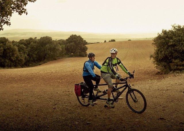 Sergio y Juanma en su viaje a Marruecos en tándem