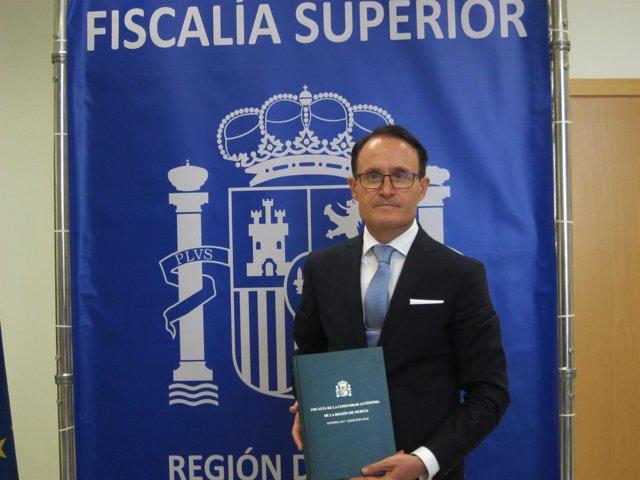 Fiscal superior Región, José Luis Díaz Manzanera presenta Memoria
