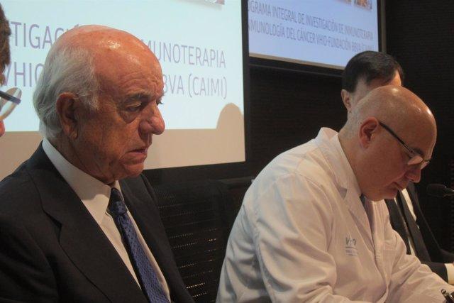 El pte. De la Fund.BBVA F.González y el dtor.Del VHIO J. Tabernero