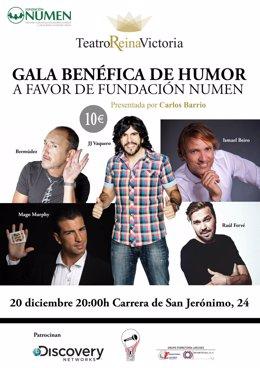 Gala De Humor Benéfica A Favor De La Fundacion Numen