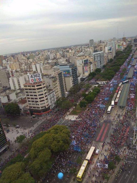 manifestación argentina