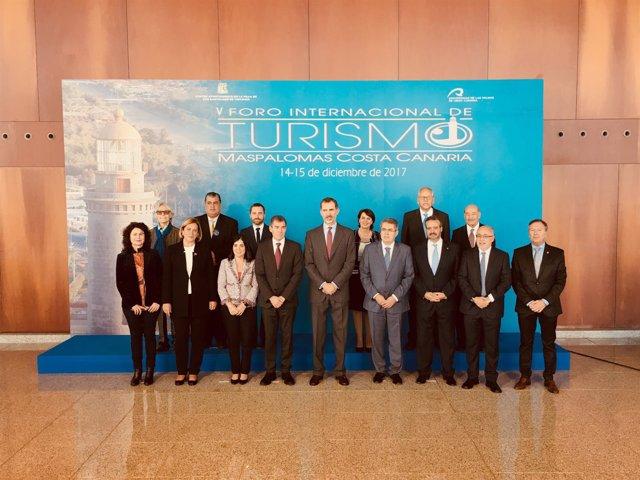 El Rey preside el V Foro Internacional de Turismo Maspalomas Costa Canaria