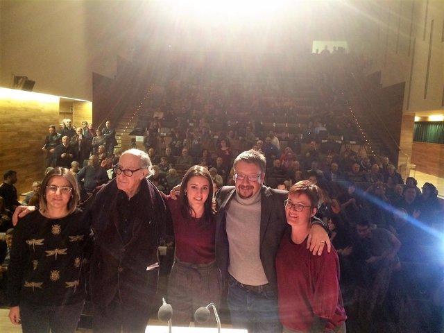 Xavier Domènech, Marta Ribas, Vicenç Navarro, Irene Montero, Anna Martí