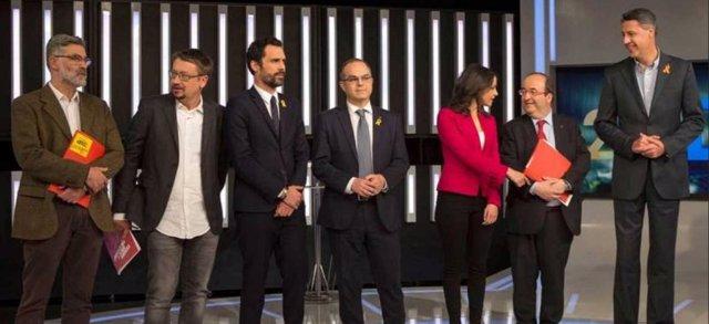 Los candidatos catalanes en el debate