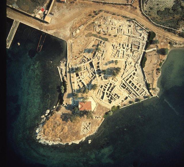 Excavación del sitio de Ayia Irini en la isla de Kea