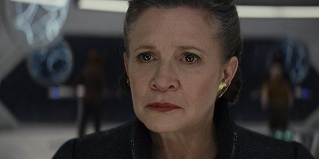 Carrie Fisher es Leia en Star Wars: The Last Jedi