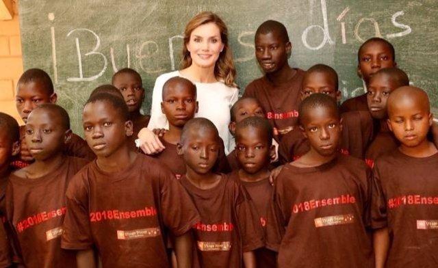 Reina Letizia en Senegal