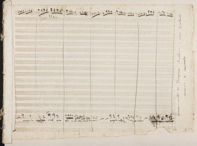 Manuscrito del compositor Vicenzo Bellini