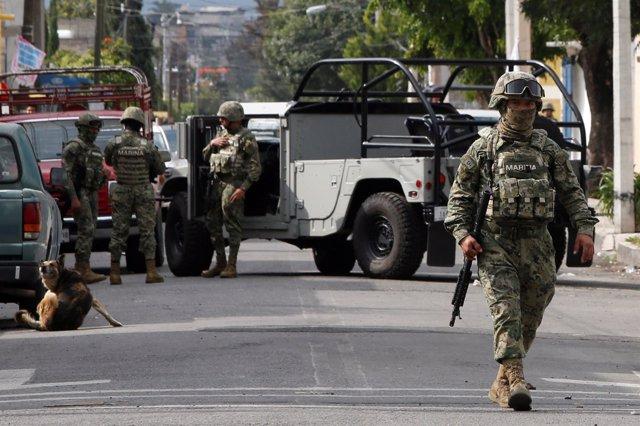 Militares mexicanos en Ciudad de México