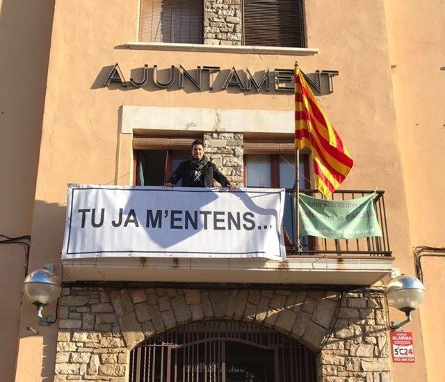 El alcalde de La Fuliola (Lleida), Eduard Piera, en el Ayuntamiento