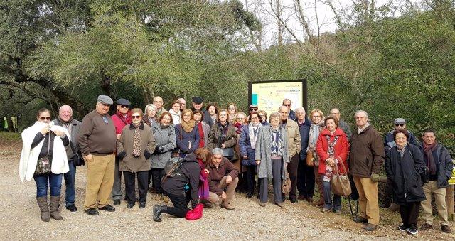 Los alumnos de la Cátedra Intergeneracional de la UCO en el Parque Natural