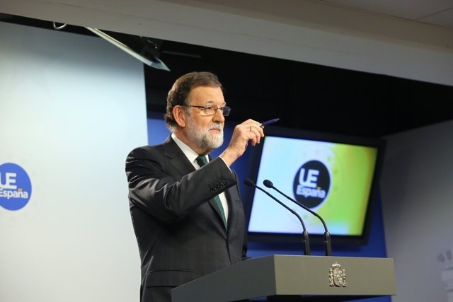 Roda de premsa de Rajoy després de la Cimera de l'Euro a Brussel·les
