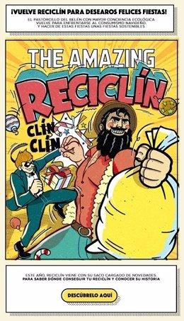 Reciclín, el pastorcillo superhéroe de la Navidad de Ecoembes