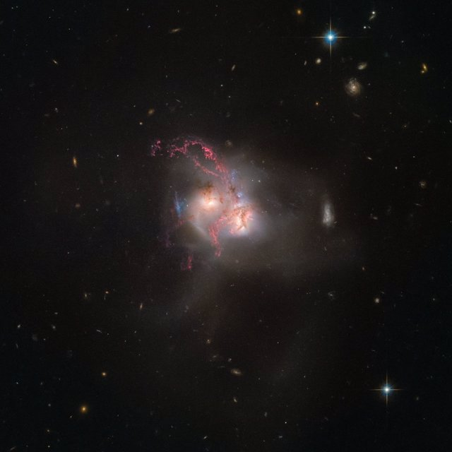 Colisión galáctica en curso