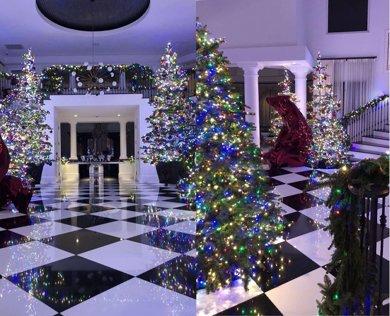 El decorado navideño de ensueño del clan Kardashian