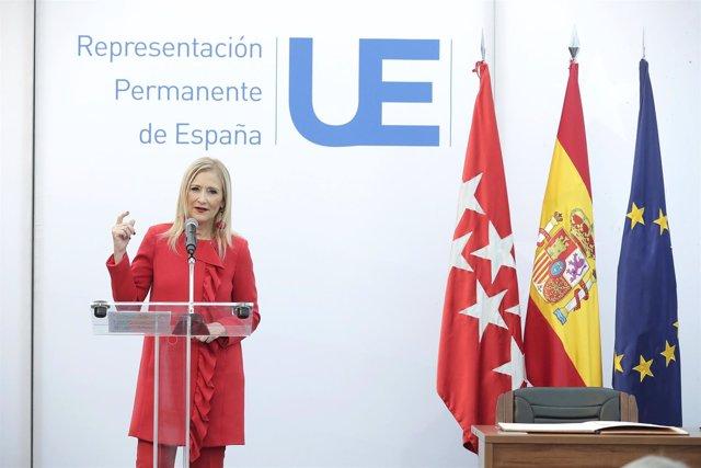 Cifuentes En Bruselas Encuentro Con El Embajador Representante Permanente De Esp