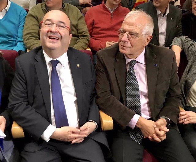 Miquel Iceta, Josep Borrell, PSC