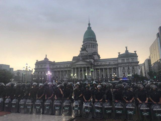Disturbios congreso de Argentina