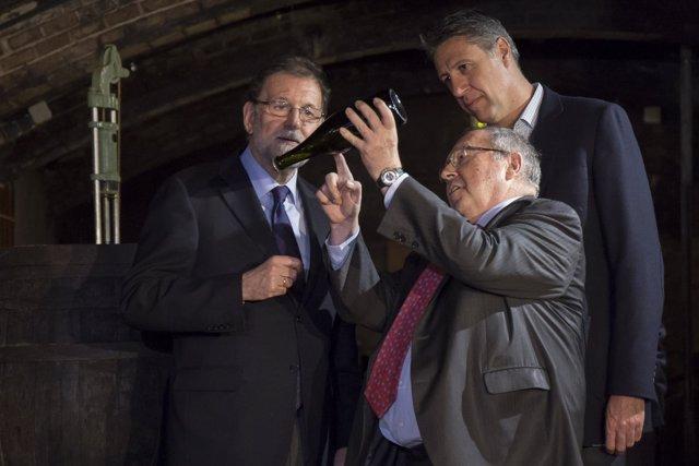 Fotos. Xavier García Albiol Y Mariano Rajoy En Las Cavas Freixenet