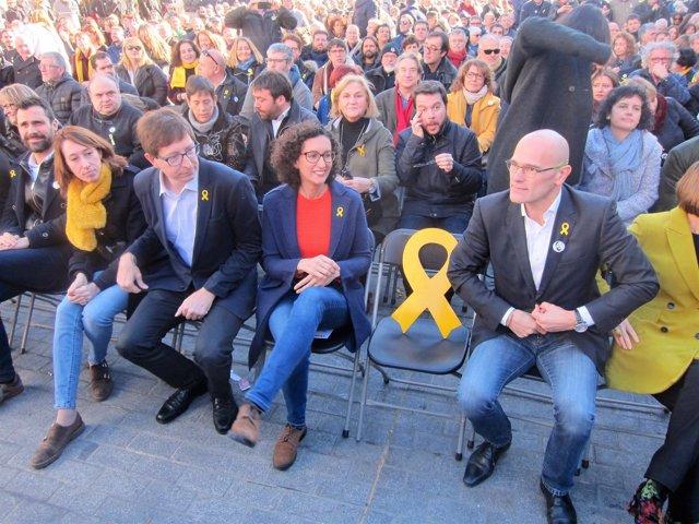 R.Torrent,T.Laïlla,C.Mundó,M.Rovira,silla de Junqueras,R.Romeva, ERC