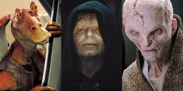 Los personajes más odiados de Star Wars