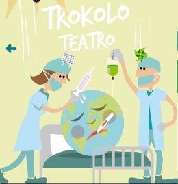 Cartel de la obra de teatro de Trokolo 'O me atienden ya, o me voy'