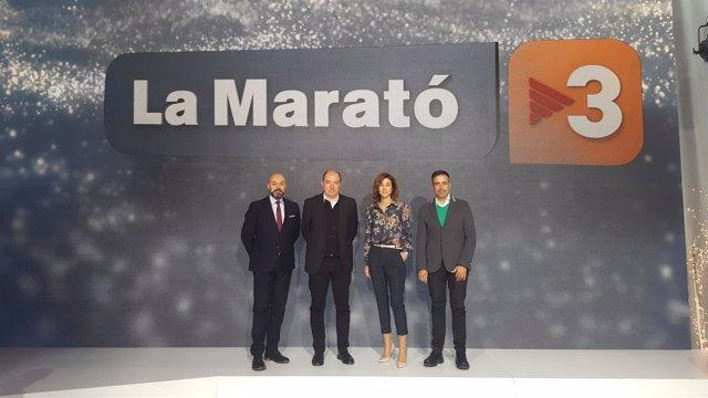 Rueda de prensa de La Marató de TV3