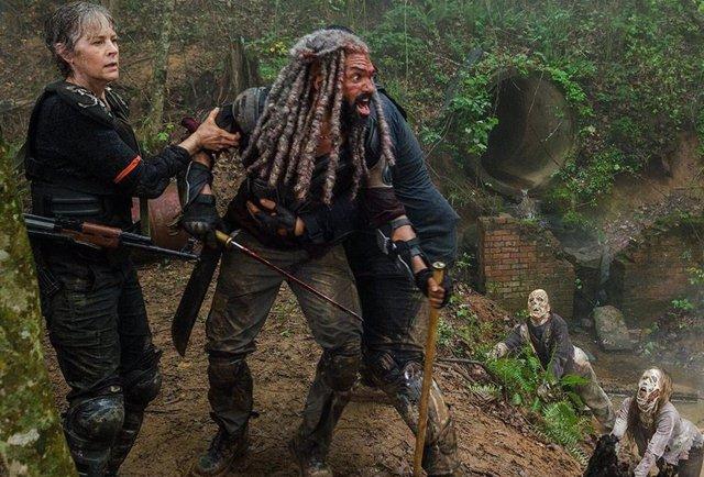 The Walking Dead Carol y Ezekiel