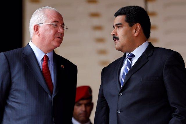 Nicolás Maduro y Rafael Ramírez