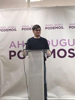 Secretario general de Podemos Euskadi, Lander Martinez