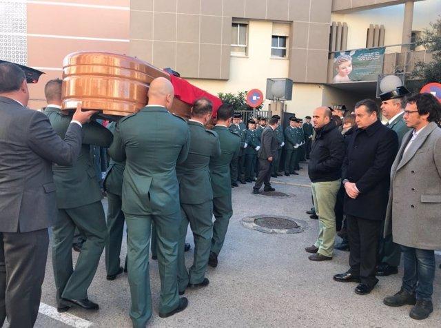 Funeral del guardia civil gaditano asesinado