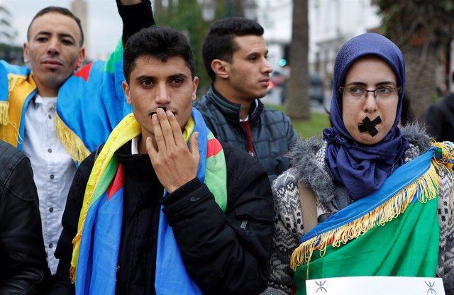 Protestas en defensa del idioma bereber