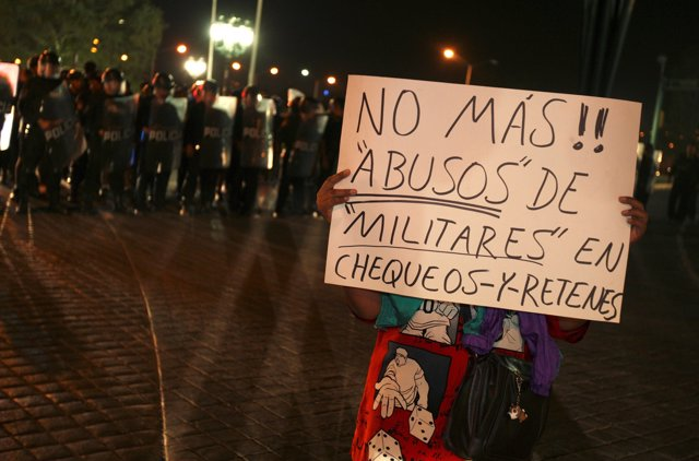 Protestas contra la nueva ley de seguridad de México