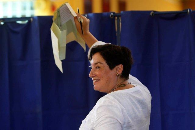 La candidata presidencial del Frente Amplio, Beatriz Sánchez