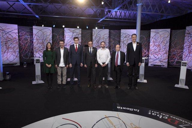 Debate de candidaturas a las elecciones catalanas 2017