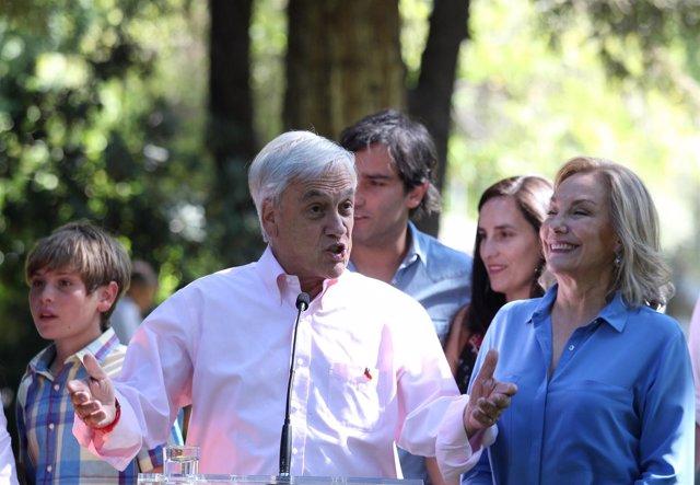 El candidato presidencial conservador en Chile, Sebastián Piñera